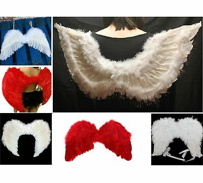Feather White Angel Wing girl boy baby Fairy Xmas NATIVITY Fancy Dress Party NEW