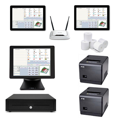 Restaurant POS System with the SAM4S Terminal & two Windows Tablets Bundle #102