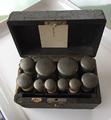 Antique 1880s Medicine Homeopathic Pharmaceutical Kit