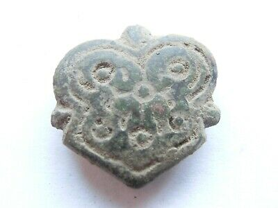 Ancient CELTIC Druid Bronze *LION head* Mount Amulet /Talisman - La Tene Culture