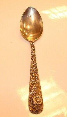 "S. KIRK & SON STERLING SILVER  REPOUSSE  tea spoon 6"" LONG no mono"