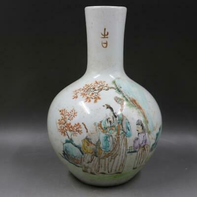 Chinese ancient antique hand make vase Porcelain Decoration a630