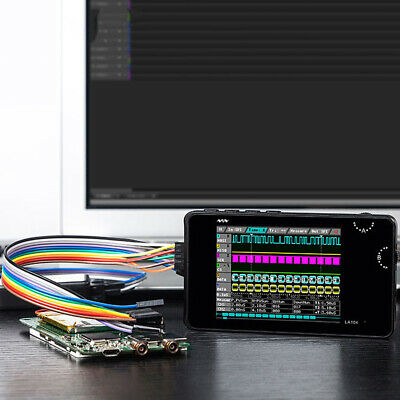 LA104 Aluminum Logic Analyzer Portable 4 Channels Digital Display Oscilloscope
