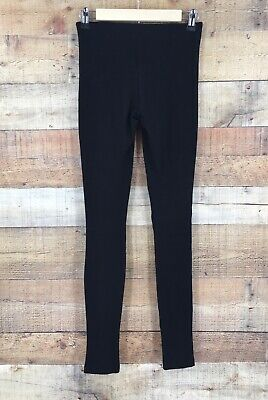 Theory Womens Mid Rise Skinny Leggings Pants Black Size P
