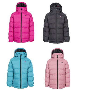 Trespass Girl's Amira Padded Waterproof Long Sleeves Hooded Winter Warm Jacket