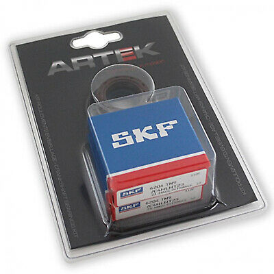Roulement D'embiellage + Joint Scoot Artek K2 Skf Adaptable Piaggio 50 Zip 2T,