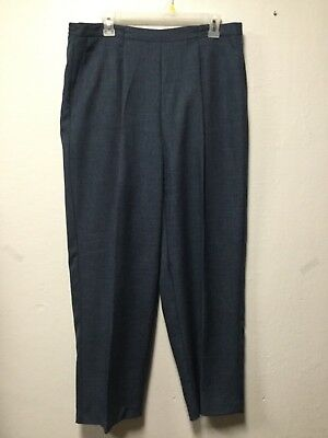 Womens Dress Pants Size 18W Blue Elastic Back Front Pockets Alfred Dunner 29