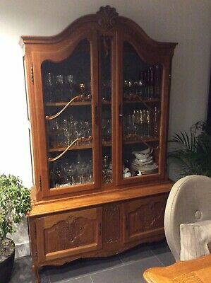 Louis XV French Style Oak display Cabinet