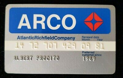 ARCO Atlantic Richfield Company Credit Card exp 1981 ♡Free Shipping♡cc196