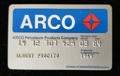 ARCO Petroleum Products Company Credit Card exp 1984 ♡Free Shipping♡cc195