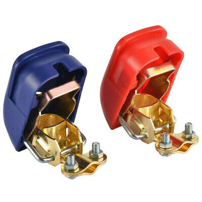 2pcs Car 12V Battery Terminals Clamps Positive Negative Quick Release Connectors
