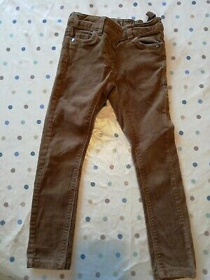 Girls Next Brown Cord Skinny Trousers Age 6yrs