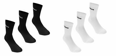 New Mens Womens Unisex Adidas Crew Socks 3 Pairs White Or Black Sports