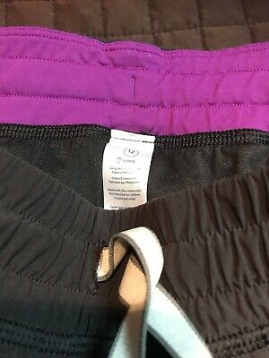Girls IVIVVA by Lululemon Jogger Track Pants Size 12 Black with zippers