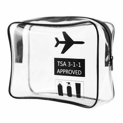 Airport Security Toiletry Bag, Clear Toiletry Bag TSA Carry-On Luggage Travel Ba