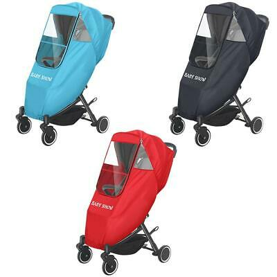 Baby Carriage Rain Cover Pushchair Canopy Raincoat Waterproof Stroller Wind Shie