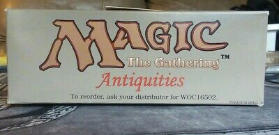 Empty ANTIQUITIES Booster Box 1993 VERY RARE MTG Magic the Gathering Vintage
