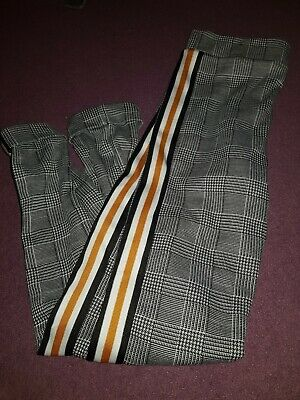 Girls Smart Checked Trousers Age 11-12