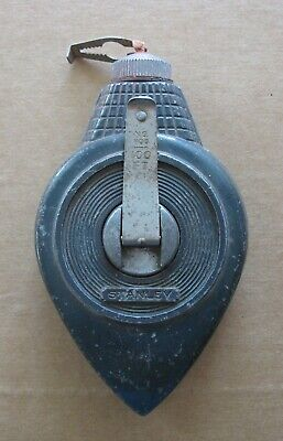 Vintage Stanley No. 1100 Chalk-O-Matic 100 Ft. Plumb Bob Chalk Line Made In USA