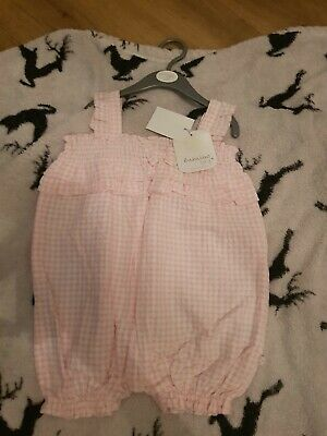 BNWT Baby Girls Sz 0 Designer Babaluno Baby Pack Of Two Long Pink Romper Suits