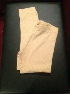 Next Girls Yellow Fine Pinstripe Leggings Trousers New Without Tags Age 8 Years