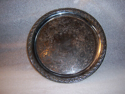 Silver Plated Wm Rogers Platter Spring Flower Pattern 2070 / 10  Serving Tray