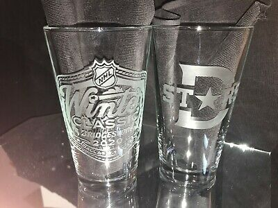 2020 Nhl Special Edition Winter Classic Dallas Stars 2 Etched Pint Glasses New