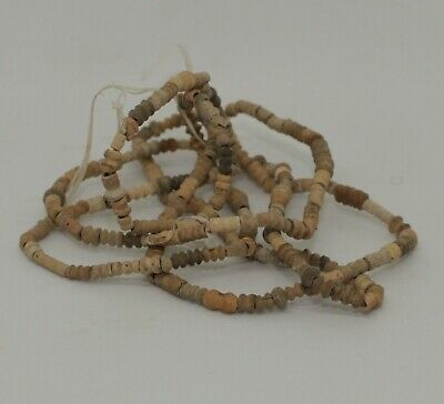 Ancient Egyptian Carved Bead Necklace 1300Bc 0901