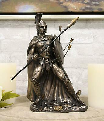 Ebros Gift King Leonidas of Sparta with Javelin Spear and Round Shield Statue