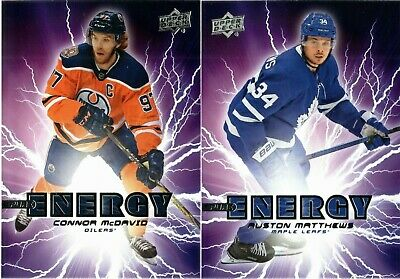 2019-20 Upper Deck Series 1 Pure Energy Insert Singles - You Pick For Set