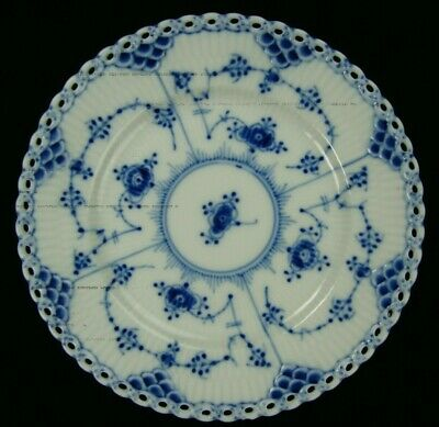 1 Royal Copenhagen Blue Fluted Full Lace Bread & Butter Plate 1St: Quality #1088