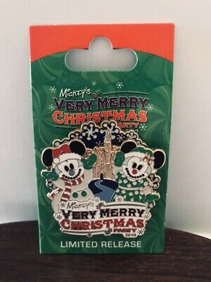 Disney Christmas Mickey's Very Merry Christmas Party Spinner Pin 2010 Ltd Rel