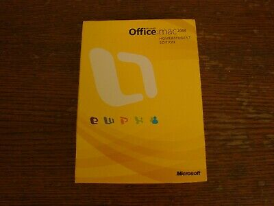 Microsoft Office: MAC 2008 Home & Student Edition CD-Rom Install Guide