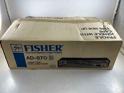Vintage Fisher CD Player Model AD-870 Made in Japan TESTED SERVICED