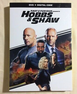 HOBBS & SHAW DVD + DIGITAL CODE Brand New & Sealed USA FREE SHIPPING Slipcover