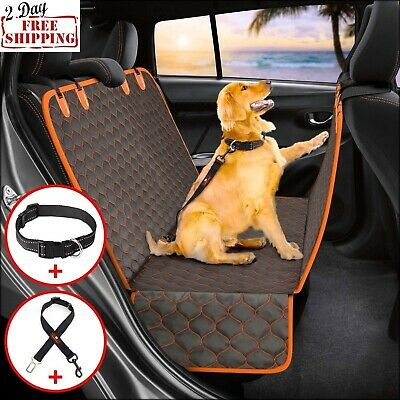Dog Car Seat Cover Nonslip Pets Seat Hammock Rear Back Waterproof Truck Blanket