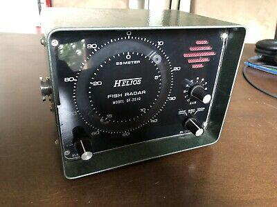 Helios Fish Radar Model DF - 2510 Vintage Made In Japan