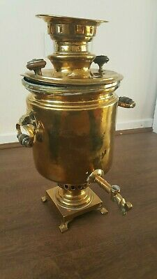 Russian Antique Brass Samovar Tula circa 1890 by Kozlov Factory