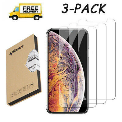 for iPhone 7 8 6 6s Plus X 11 Pro Max Xs XR Screen Protector Tempered Glass USA