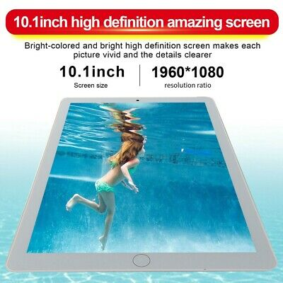 10.1'' Android 9.0 8GB+128GB Tablet 3G WiFi PC Dual Camera bluetooth GPS Phablet