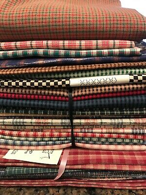 Checks Plaid FQ fabric lot 8 yards cotton quilting quilt