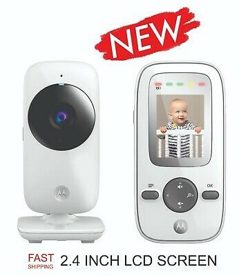 "2018 New Motorola MBP481 Video Baby Monitor with camera and 2.4"" Screen - White"