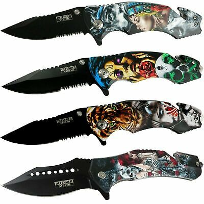 "8.5"" Tactical Spring Assisted Folding Pocket Knife 3CR13 Stainless Steel Blade"