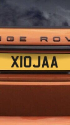 Private number plate X10 JAA