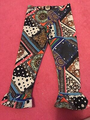 Girls River Island Patterned Trousers Age 2-3 Years