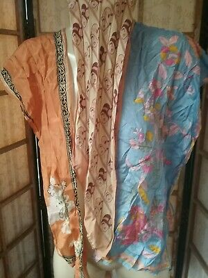 Vintage 1970 Silk Scarf Lot