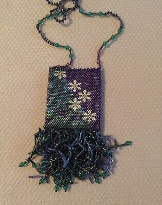 Handcrafted delica Bead Amulet Purse