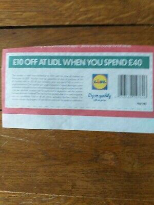 £10 off £40 at lidl