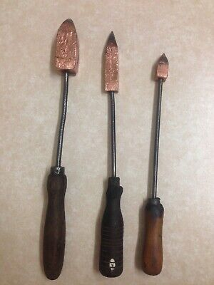 Vintage Soldering Irons X 3