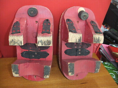 Strange Pair Clog type shoes possibly Japanese.Vintage